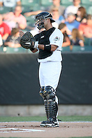 July 2, 2009: West Tennessee Diamond Jaxx catcher Guillermo Quiroz (44) at Pringles Park in Jackson, TN. The Diamond Jaxx are the Southern League AA affiliate of the Atlanta Braves. Photo by: Chris Proctor/Four Seam Images