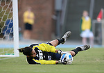 07 September 2007: Duke's Allison Lipsher makes a save. The Duke University Blue Devils defeated the Yale University Bulldogs 1-0 at Fetzer Field in Chapel Hill, North Carolina in an NCAA Division I Women's Soccer game, and part of the annual Nike Carolina Classic tournament.