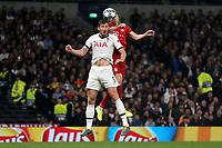 Robert Lewandowski of Bayern Munich beats Jan Vertonghen of Tottenham Hotspur to a header during Tottenham Hotspur vs FC Bayern Munich, UEFA Champions League Football at Tottenham Hotspur Stadium on 1st October 2019