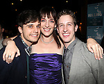 Andy Mientus, Julia Murney and Alex Wyse  attending the Off-Broadway Opening Night Performance After Party for 'Falling' at Knickerbocker Bar & Grill on October 15, 2012 in New York City.