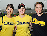 From left: Catherine Wilson, Amy Glanzer and Melissa Treadway at the 5th Annual Blondes vs Brunettes Powder Puff Football Game at St. John's School Saturday May 15,2010.  (Dave Rossman Photo)