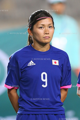 Nahomi Kawasumi (JPN), <br /> SEPTEMBER 26, 2014 - Football / Soccer : <br /> Women's Quarter-final <br /> between Japan Women's - Hong Kong Women's <br /> at Hwaseong Main Stadium <br /> during the 2014 Incheon Asian Games in Incheon, South Korea. <br /> (Photo by Yohei Osada/AFLO SPORT) [1156]