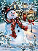 Dona Gelsinger, CHRISTMAS SANTA, SNOWMAN, WEIHNACHTSMÄNNER, SCHNEEMÄNNER, PAPÁ NOEL, MUÑECOS DE NIEVE, paintings+++++,USGE1563A,#X# ,classical