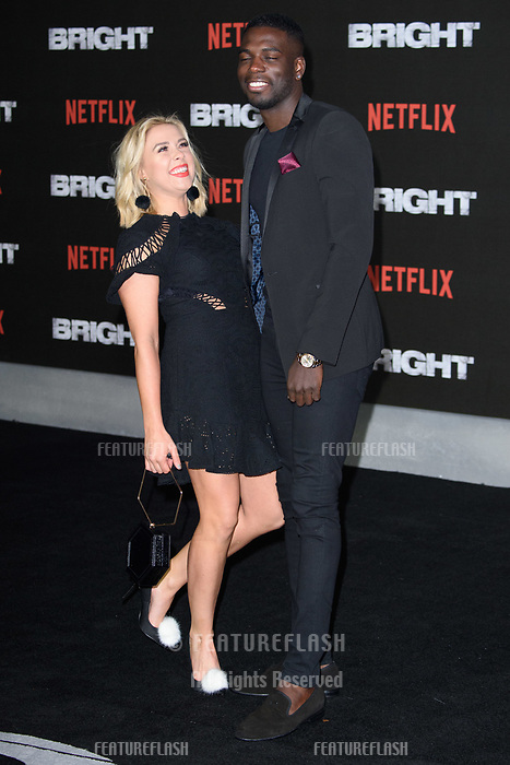 Gabby Allen &amp; Marcel Somerville at the European premiere for &quot;Bright&quot; European premiere at the BFI South Bank, London, UK. <br /> 15 December  2017<br /> Picture: Steve Vas/Featureflash/SilverHub 0208 004 5359 sales@silverhubmedia.com