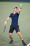 Andy Murray (GBR) falls to Roger Federer (SUI) by 63 75 at the Western & Southern Open in Mason, OH on August 15, 2014.