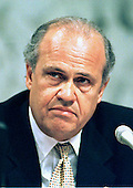 "In this file photo, United States Senator Fred Thompson (Republican of Tennessee), Chairman of the Senate Governmental Affairs Committee which began hearingson July 7, 1997 onto alleged campaign fundraising abuses during the 1996 elections in Washington, DC.  Thompson served as Republican counsel during the Senate Watergate hearings in 1973.  Thompson is a supporter of the McCain-Feingold campaign finance reform bill that is opposed by most GOP leaders.  Thompson is also known for his acting career where he appeared in ""The Hunt for Red October"" with Sean Connery, ""In the Line of Fire"" with Clint Eastwood, ""Fat Man and Little Boy"" with Paul Newman and other roles.  Thompson's family announced he passed away on Sunday, November 1, 2015 at age 73 in Nashville, Tennessee after a recurrence of lymphoma.<br /> Credit: Ron Sachs / CNP"