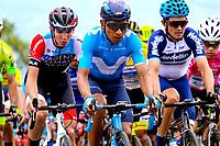 LLANOGRANDE - COLOMBIA, 14-02-2019: Nairo Quintana (COL) del equipo Movistar durante la tercera etapa del Tour Colombia 2.1 2019 con un recorrido de 167.6 Km, que se corrió en un circuito con salida y llegada en el Complex Llanogrande. / Nairo Quintana (COL) Movistar team, during the third stage of the Tour Colombia 2.1 2019 with a distance of 167.6 km, which was run on a circuit with start and finish at the Complex Llanogrande. Photo: VizzorImage / Anderson Bonilla / Cont.