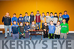 Pictured at the St Marys/Renard GAA medal presentation in the Con Keating Park on Saturday night were front l-r; Daragh O'Shea, Ronan Quinlan, Niall McDaid, Ian Moriarty, Sean Teahan, Donagh Quinlan, Robert Wharton, Eoghan McDaid, back l-r; Connie O'Connor, Brendan Kelly, Rory O'Shea, Liam Sugrue, Killian Young, Bryan Sheehan, Óisín Moran, Blaine McCarthy, Adrian O'Sullivan, Cian Esmond, Darren Casey & Mark Quigley.
