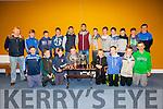 Pictured at the St Marys/Renard GAA medal presentation in the Con Keating Park on Saturday night were front l-r; Daragh O'Shea, Ronan Quinlan, Niall McDaid, Ian Moriarty, Sean Teahan, Donagh Quinlan, Robert Wharton, Eoghan McDaid, back l-r; Connie O'Connor, Brendan Kelly, Rory O'Shea, Liam Sugrue, Killian Young, Bryan Sheehan, Óisín Moran, Blaine McCarthy, Adrian O'Sullivan, Cian Esmond, Darren Casey & Mark Quigley.