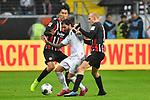 06.10.2019, Commerzbankarena, Frankfurt, GER, 1. FBL, Eintracht Frankfurt vs. SV Werder Bremen, <br /> <br /> DFL REGULATIONS PROHIBIT ANY USE OF PHOTOGRAPHS AS IMAGE SEQUENCES AND/OR QUASI-VIDEO.<br /> <br /> im Bild: Daichi Kamada (Eintracht Frankfurt #15), Sebastian Rode (Eintracht Frankfurt #17), Leonardo Bittencourt (SV Werder Bremen #10)<br /> <br /> Foto © nordphoto / Fabisch