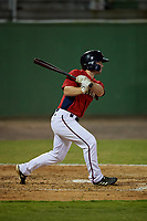 Potomac Nationals Gage Canning (9) at bat during a Carolina League game against the Myrtle Beach Pelicans on August 14, 2019 at Northwest Federal Field at Pfitzner Stadium in Woodbridge, Virginia.  Potomac defeated Myrtle Beach 7-0.  (Mike Janes/Four Seam Images)