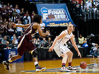 INDIANAPOLIS, IN - APRIL 3, 2011: Mikaela Ruef during the NCAA Final Four against Texas A&M at Conseco Fieldhouse  in Indianapolis, IN on April 1, 2011.