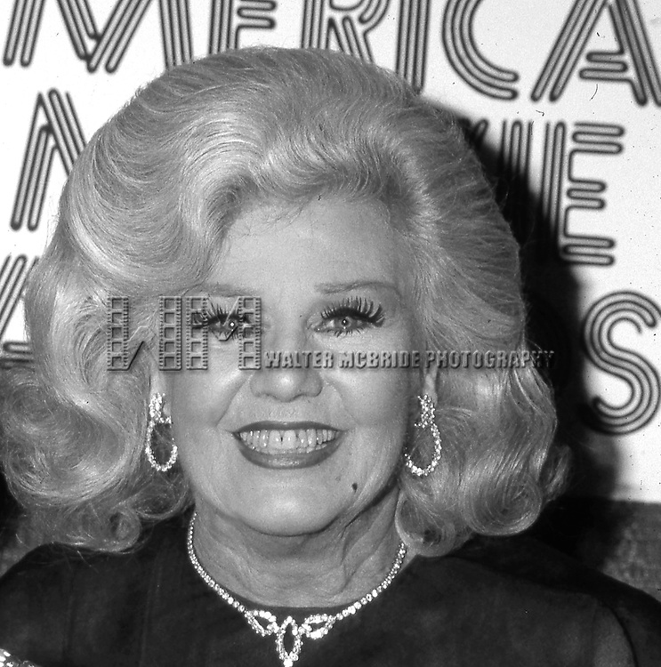 Ginger Rogers attends the 'American Movie Awards' at Chasen's Restaurant on March 15, 1082 in Los angeles, California.