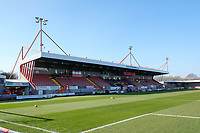 General view of the ground ahead of Crawley Town vs Macclesfield Town, Sky Bet EFL League 2 Football at Broadfield Stadium on 23rd February 2019