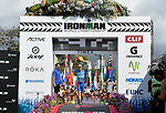 KONA, HAWAII - OCTOBER 14:  Patrick Lange of Germany celebrates his overall victory and New Course Record of 8:01.40 during the 2017 IRONMAN World Championships on October 12, 2017 in Kona, Hawaii. (Photo by Donald Miralle for IRONMAN)