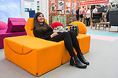 London, UK. 22 September 2016. Creative seating solutions by Lina Furniture. The UK's largest design show 100% Design takes place at London Olympia from 21 to 24 September 2016. © Bettina Strenske/Alamy Live News