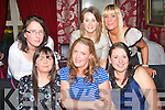 BRIDE TO BE: Trudy Conroy, Cois Abhainn, Tralee (seated centre) enjoying a hen night out with her colleagues from Dunnes Stores, North Circular Rd, Tralee, on Saturday night in Cassidy's restaurant, Tralee, also seated is Marie Lehane (lt) and Norella Mansfield (rt). Standing l-r: Martina O'Donoghue, Anne Kelliher and Fiona O'Connell.