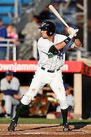 July 16, 2009:  First Baseman Dustin Dickerson of the Jamestown Jammers  during a game at Russell Diethrick Park in Jamestown, NY.  The Jammers are the NY-Penn League Short-Season Single-A affiliate of the Florida Marlins.  Photo By Mike Janes/Four Seam Images