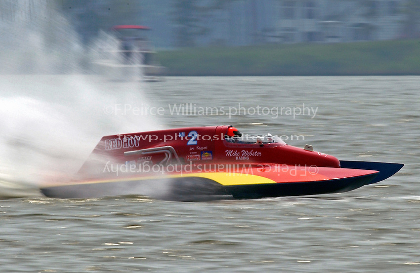 """Mike Webster, NM-2 """"Red Hot""""  (National Mod hydroplane(s)"""