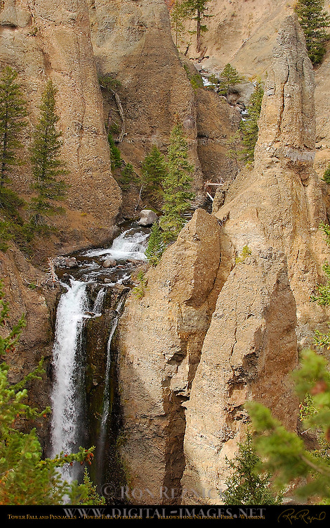 Tower Fall and Pinnacles, Tower Fall Overlook, Yellowstone National Park, Wyoming
