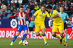 Atletico de Madrid's Antoine Griezmann, UD Las Palmas Nabil El Zhar  during the match of Copa del Rey between Atletico de Madrid and Las Palmas, at Vicente Calderon Stadium,  Madrid, Spain. January 10, 2017. (ALTERPHOTOS/Rodrigo Jimenez)