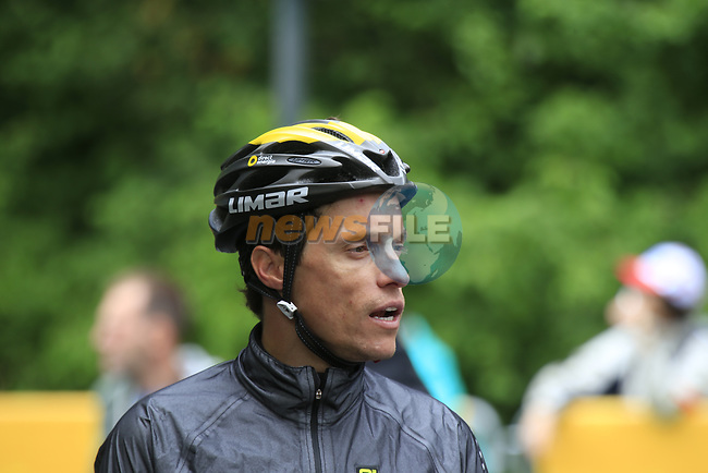 Sylvain Chavanel (FRA) Direct Energie before Stage 1, a 14km individual time trial around Dusseldorf, of the 104th edition of the Tour de France 2017, Dusseldorf, Germany. 1st July 2017.<br /> Picture: Eoin Clarke | Cyclefile<br /> <br /> <br /> All photos usage must carry mandatory copyright credit (&copy; Cyclefile | Eoin Clarke)