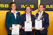 Girls Underwater Hockey finalists Stephanie Colenbrander, Georgia Farmer and Georgia Child. ASB College Sport Young Sportsperson of the Year Awards held at Eden Park, Auckland, on November 24th 2011.