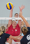 RIO DE JANEIRO - 6/9/2016:  Leanne Muldrew of Canada's Womens Sitting Volleyball team during a practice match vs Team USA at the Paralympic Village at the Rio 2016 Paralympic Games. (Photo by Matthew Murnaghan/Canadian Paralympic Committee