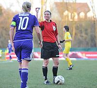 Waasland Beveren Sinaai Girls - RSC Anderlecht : Leen Martens.foto DAVID CATRY / Nikonpro.be