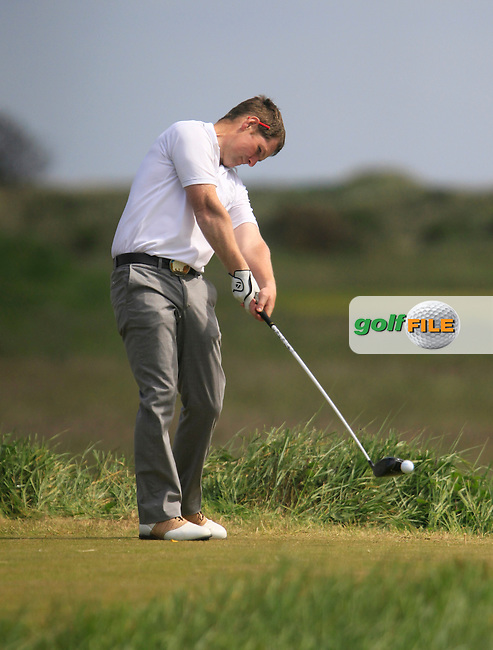 Mark Shanahan (Castlemartyr) on the 10th tee during the 2nd round of the East of Ireland Amateur Open Championship 2013 Co Louth Golf club 2/6/13<br /> Picture:  Thos Caffrey / www.golffile.ie