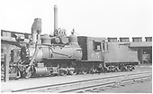 3/4 fireman's-side view of C&amp;S #65 at Denver roundhouse.<br /> C&amp;S  Denver, CO