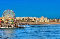 Santa Monica beach, Amusement Park, Roller Coaster, Over Water, Santa Monica Pier, Loews Hotel