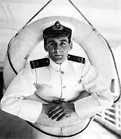 BNPS.co.uk (01202 558833)<br /> Pic: HAldridge/BNPS<br /> <br /> A young officer Joseph Boxhall on the RMS Oceanic in New York in 1909 - he also survived the Titanic sinking three years later.<br /> <br /> A remarkable photo album taken by a White Star line officer Philip Agathos Bell that contains haunting before-and-after images of the most senior officer to survive the Titanic disaster has come to light.<br /> <br /> The contrasting snaps of Second Officer Charles Lightoller show him stood proudly and confidently in his White Star Line uniform in and then one of him looming gaunt and drawn from his recent ordeal.<br /> <br /> Another incredible image shows the football team for While Star Line.