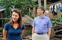 Bill and Melinda Gates visit Yong Jie Village in Sanya, Hainan, China. <br /> <br /> photo by Lou Lin Wei / Sinopix