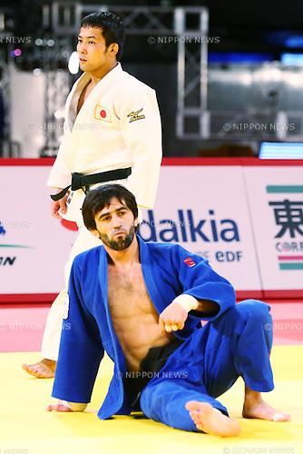 (L-R) Naohisa Takato (JPN), Mudranov Beslan (RUS),<br /> DECEMBER 4, 2015 - Judo : <br />  IJF Grand Slam Tokyo 2015 International Judo Tournament<br /> Men's -60kg Final <br /> at Tokyo Metropolitan Gymnasium, Tokyo, Japan. <br /> (Photo by Shingo Ito/AFLO SPORT)