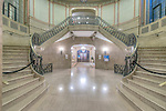 Canada, Quebec, Quebec City, Chateau Frotenac Hotel Stairway