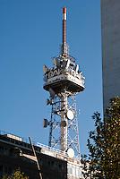 Milano, antenna della RAI, Radio Televisione Italiana, in corso Sempione --- Milan, antenna of RAI, Italian Radio Television, in Sempione avenue