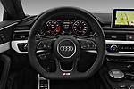 Car pictures of steering wheel view of a 2017 Audi S5 Sportback Base 5 Door Hatchback