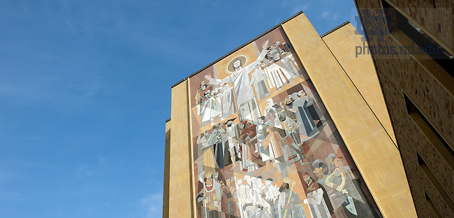 Mar. 29, 2011; Word of Life Mural on Hesburgh Library..Photo by Matt Cashore/University of Notre Dame
