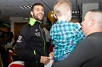 Pictured: Borja Baston of Swansea City during the Swansea City Christmas part at the Liberty Stadium in Swansea, Wales, UK. Thursday 05 December 2019