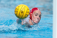 Stanford, CA - March 23, 2019: Makenzie Fischer during the Stanford vs. Harvard women's water polo game at Avery Aquatic Center Saturday.<br /> <br /> The Cardinal won 20-7.