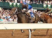 LEXINGTON, KY - April 15, 2017.  #3 Watershed and jockey Paco Lopez win the 87th running of The Ben Ali Grade 3 $200,000 for owner Godolphin Racing and trainer Kiaran McLaughlin at Keeneland Race Course.  Lexington, Kentucky. (Photo by Candice Chavez/Eclipse Sportswire/Getty Images)