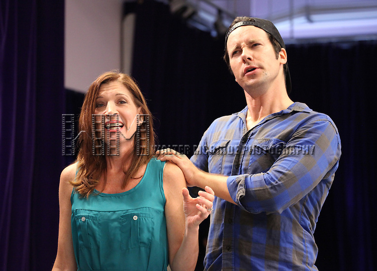 Catherine Porter & Danny Bernardy.performing at the Special Presentation of Donna Moore's .'Cougar The Musical' at Ripley-Grier Studios in New York City on 7/26/2012