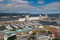 The Bunge grain silo and the bassin Louise Marina are pictured in Quebec city August 26, 2009. In this picture can also be seen the Marche du Vieux-port market and the industrial section of the port.