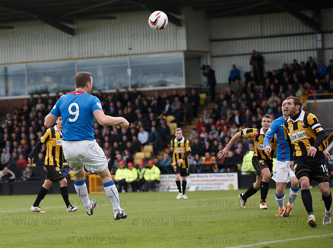 Jon Daly heads in his second and Rangers third goal
