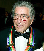 Honoree Tony Bennett speaks to reporters as he arrives for the Kennedy Center Honors taping at the John F. Kennedy Center for the Performing Arts in Washington, D.C. on December 4, 2005.  The 2005 honorees are Tony Bennett, Suzanne Farrell, Julie Harris, Robert Redford, and Tina Turner..Credit: Ron Sachs / CNP