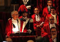 Apertura Anno Giudiziario nel distretto di Napoli nello storico salone dei Busti di Castel Capuano<br /> Luigi Mastrominico