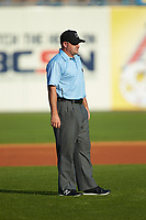 Third base umpire Jeremy Riggs during the International League game between the Louisville Bats and the Toledo Mud Hens at Fifth Third Field on June 16, 2018 in Toledo, Ohio. The Mud Hens defeated the Bats 7-4.  (Brian Westerholt/Four Seam Images)