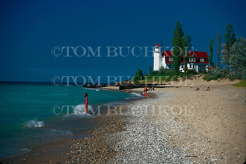Point Betsie Lighthouse, Lake Michigan,  in Benzie county, Michigan.