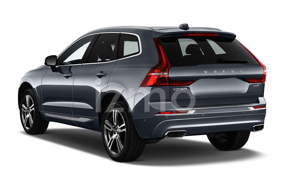 Car pictures of rear three quarter view of a 2018 Volvo XC60 Inscription 5 Door SUV angular rear